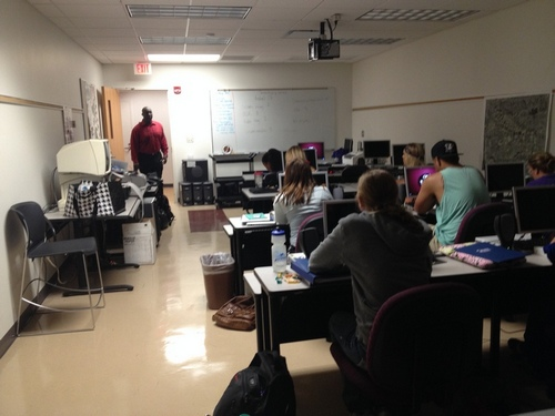 Michael, CEO of SOAR Technology, teaching accessible technology at Florida State University